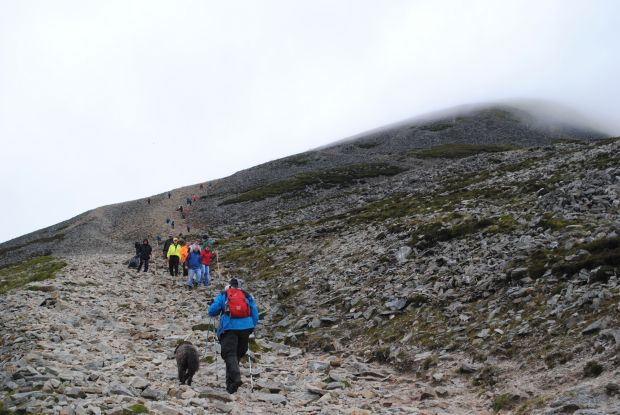 Croagh Patrick's well worn scree slope